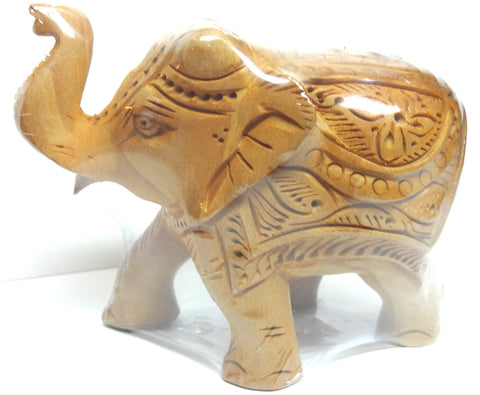 "Wooden Elephant Car Fine 4"" - Nakashi International LLC"