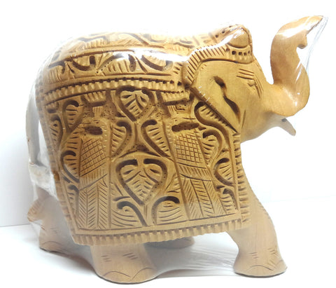 "Wooden Elephant Shikar Car Bwn 5"" - Nakashi International LLC"