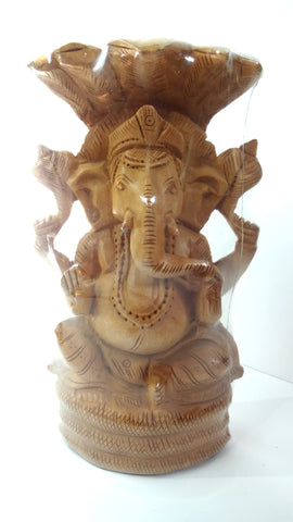 "wooden ganesh ovl on snak spl 6"" - Nakashi International LLC"