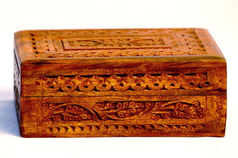 Aakashi Carved Jewellery Box(Set of 3) - Nakashi International LLC