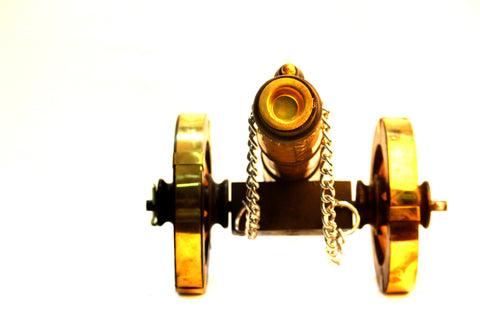 Aakashi Antique Brass Canon - Nakashi International LLC