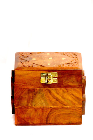 Aakashi Carved Stair Jewellery Box - Nakashi International LLC