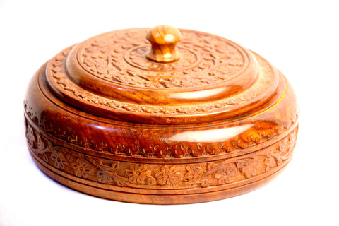 Aakashi Carved Spice Box - Nakashi International LLC