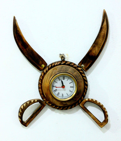 Aakashi Antique Foldable Talwar Wall Clock - Nakashi International LLC