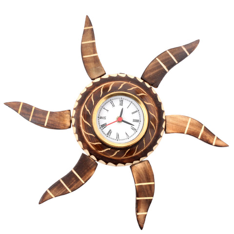 Aakashi Antique Foldable Sun Wall Clock - Nakashi International LLC