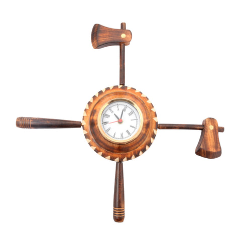 Aakashi Antique Foldable Kulhadi Wall Clock - Nakashi International LLC