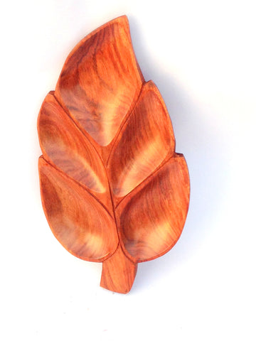 Aakashi Antique Wooden Leaf Tray - Nakashi International LLC