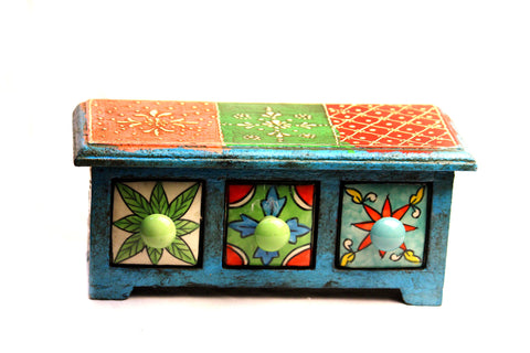 Aakashi Hand-Carved Multi-Color Drawers - Nakashi International LLC