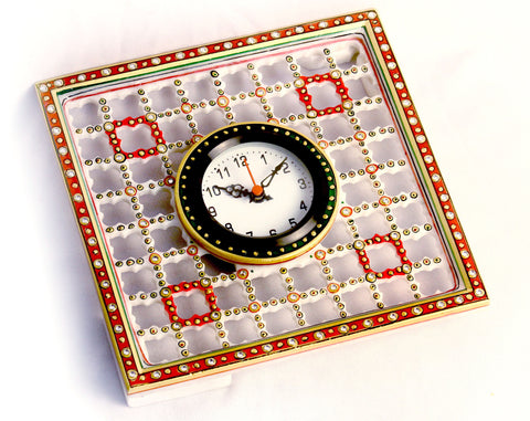 Aakashi Multi Color Square Cage Clock - Nakashi International LLC