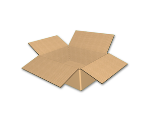 "8-1/2"" x 6-1/2"" x 3"" - RSC Top / FOL Bot Corrugated Box, Single Wall"