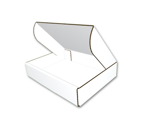 "9-1/2"" x 7"" x 2"" - Die Cut Corrugated Box, Single Wall, Oyster White, Side Tuck Tabs"