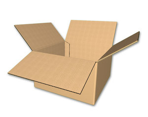 "10"" x 10"" x 6"" - Heavy Duty RSC Corrugated Boxes, Single Wall"