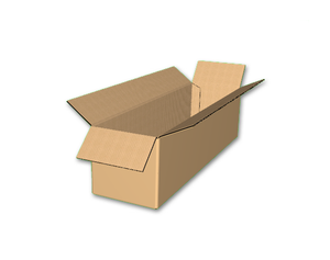 "22"" x 6"" x 6"" - Heavy Duty RSC Corrugated Box, Single Wall"
