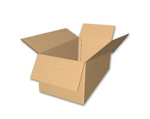 "24"" x 12"" x 10"" - Heavy Duty RSC Corrugated Box, Single Wall"