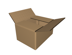 "C-110806 - 11""x 8"" x 6""- RSC  Corrugated Box, Double Wall"