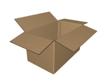"C-131315 - 13"" x 13"" x 15"" - RSC Corrugated Box, Single Wall"