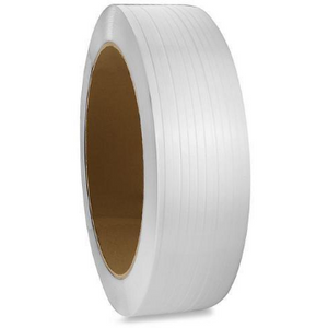 "Polypropylene Strapping, 12mm (1/2"") x 9900', Ivory, 8"" x 9"" coil, 300 lb break strength, 1 coils/case"