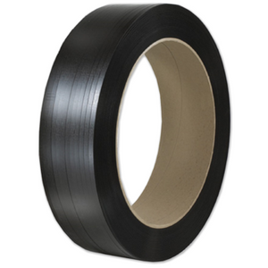 "PST-ST12/6088B -Polypropylene Strapping, 12mm (1/2"") x 7200', Black, 8"" x 8"" coil, 1 coil/case, 600 lb"