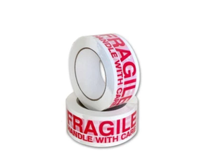 "Printed Polypro Tape, ""FRAGILE HANDLE WITH CARE"", 48mm (2"")"