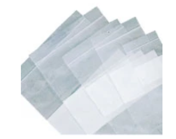 Zip Lock Poly Bags, White Block. Heavy Duty