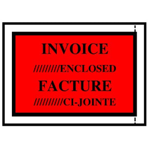 "Invoice Enclosed Envelopes, 4-1/2"" x 5-1/2"""