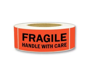 "LAB-MPL101 ""Fragile/Handle With Care"" Label, 2"" x 5"""