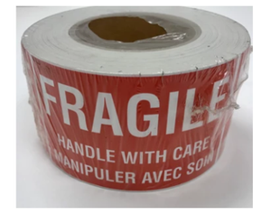 "LAB-RWEF101 ""Fragile Handle With Care"" Label, 3"" x 5"""