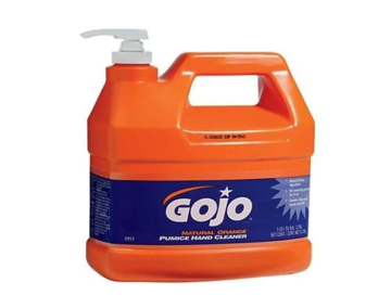 JA-SOAPORANGE - GOJO Hand Soap, Orange With Pumice, 4 x 1 Gallon Jugs, c/w Pump
