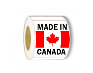 "LAB-RW215 ""Made In Canada"" Label, 2"" x 3"""