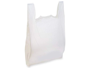 T-Shirt Bags - White/Plain