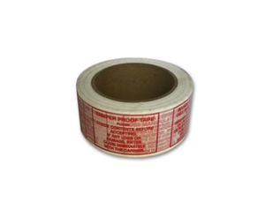 "Printed Polypro Tape, ""TAMPER PROOF"", 48mm (2"")"
