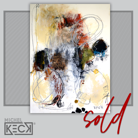SOLD Original Abstract Art Painting by Michel Keck - Sold online art works