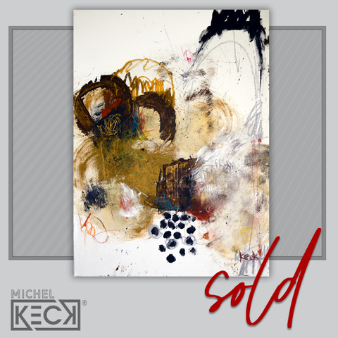 SOLD original abstract art painting by Michel Keck