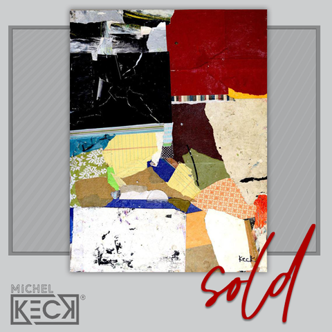 SOLD COLLAGE ART - Hold Fast Original Collage Sold to JD in Los Angeles California