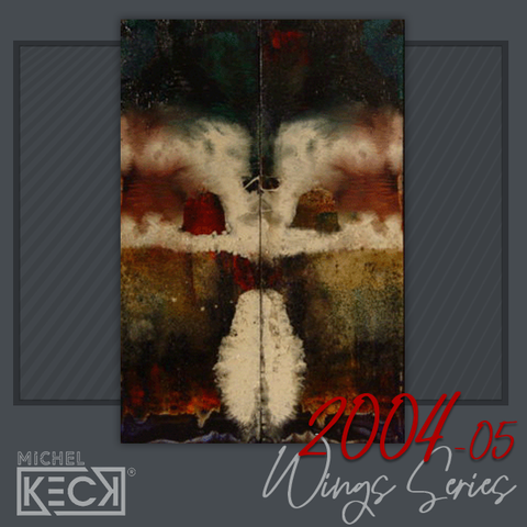Original Abstracts - one of a kind original paintings by Michel Keck - WINGS SERIES