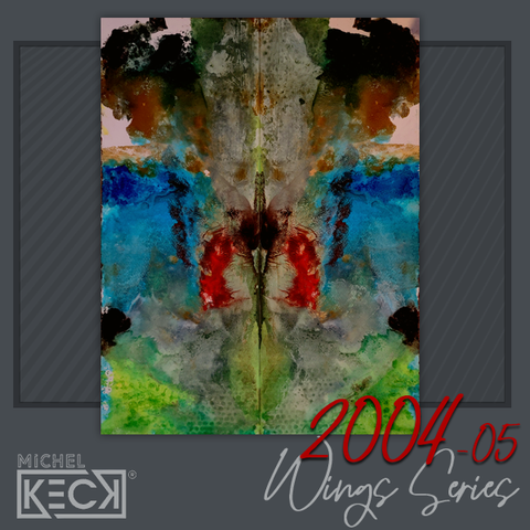Colorful Original Abstract Paintings on Canvas - Wings Series Michel Keck