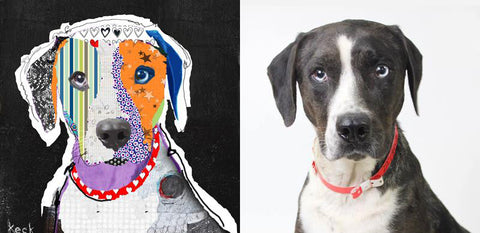 michel keck dog portrait commission Ruger a Catahoula Leopard Dog