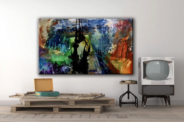ABSTRACT ART Canvas Print of Wouldn't Wanna be in Your Shoes
