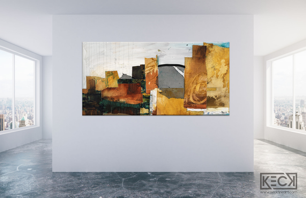 #010719 <br> Views of the City III<br> Canvas Art Print