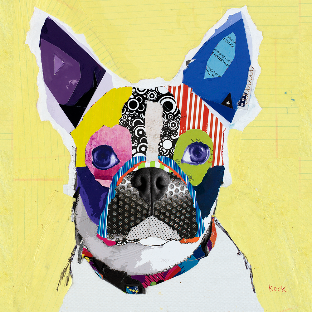 #010901 <br> Boston Terrier <br> Canvas Art Print