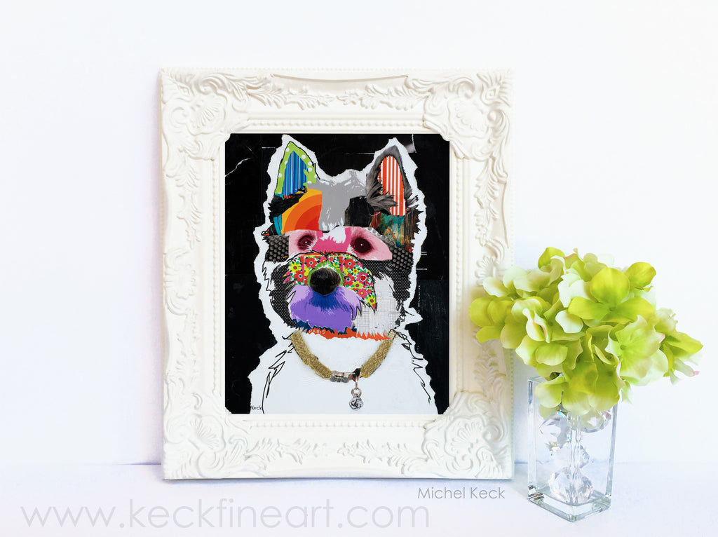 Dog Art of West Highland Terrier on Paper Print