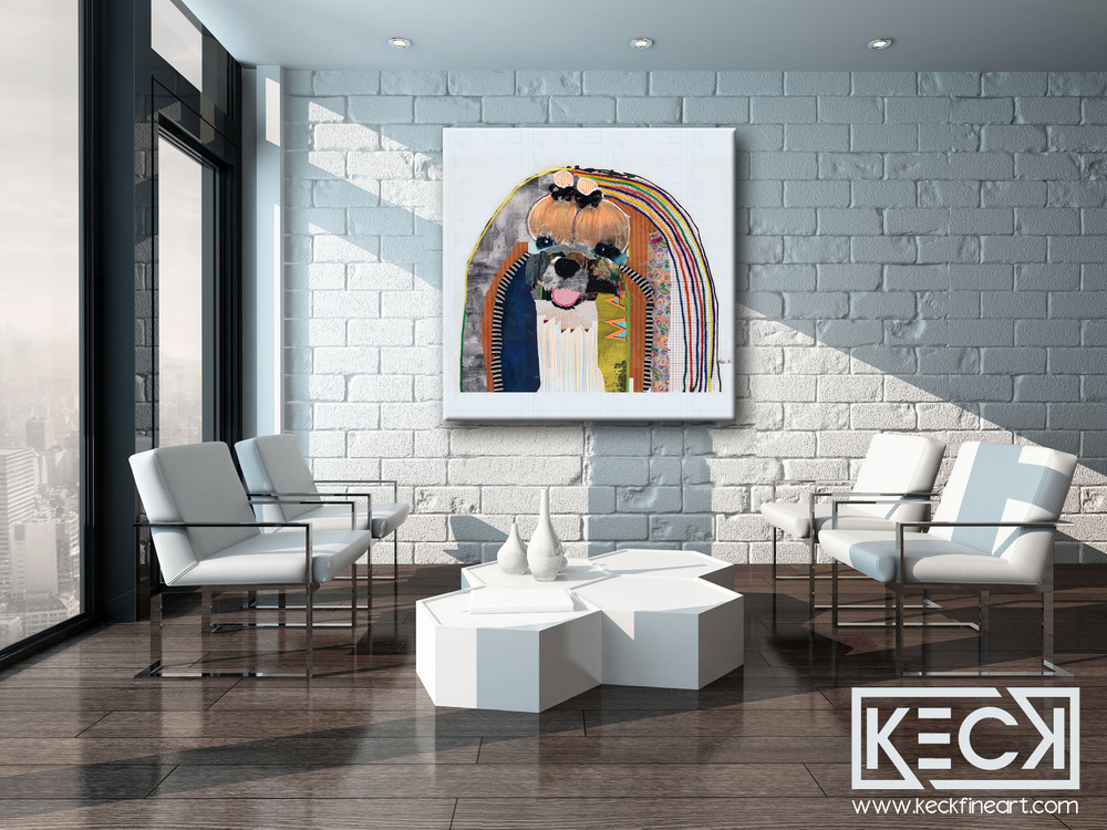 Large art prints of Maltese Dogs.  Colorful Maltese dog art prints. Maltese pop art.