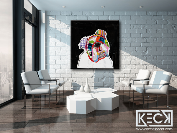 #010907 <br> English Bulldog <br> Canvas Art Print