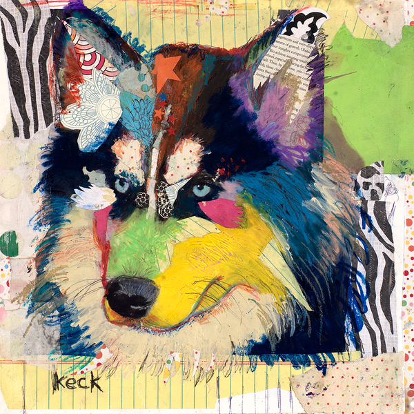 Siberian Husky Dog Art Print by Michel Keck