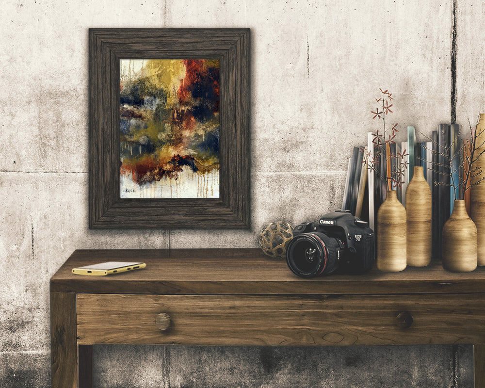 ABSTRACT ART Paper Print of I Think I Know What I Need To Do