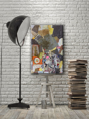 Load image into Gallery viewer, MIXED MEDIA ART Canvas Print of No Rhyme or Reason