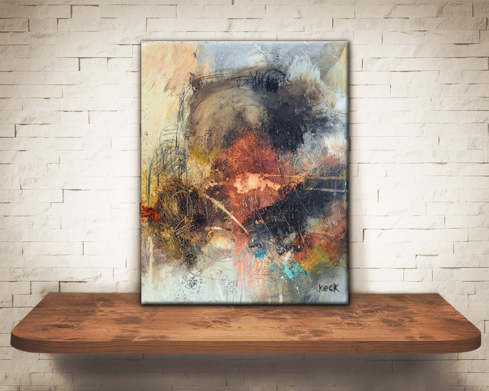 ABSTRACT ART Canvas Print of That Old Familiar Feeling