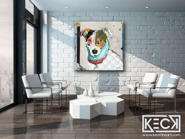 dog art prints of jack russell terrier
