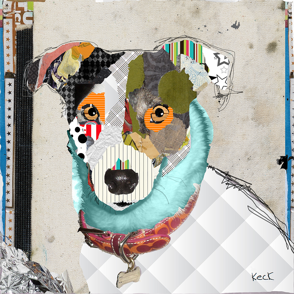 Jack Russell Rat Terrier Mix Dog Art by Michel Keck