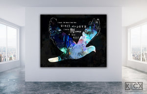 Load image into Gallery viewer, Psalm 55:6 art print